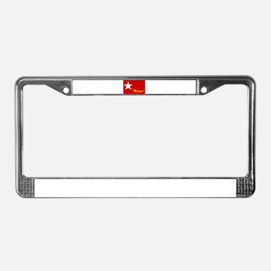 Cool Myanmar License Plate Frame
