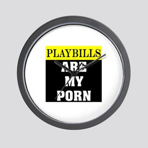 Playbills Are My Porn Wall Clock