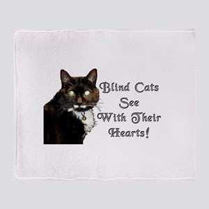 Blind Cats See Throw Blanket