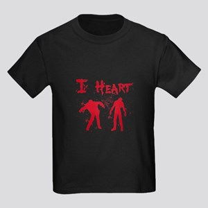 I Heart Zombies Kids Dark T-Shirt