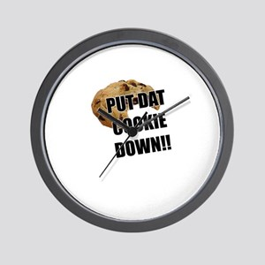 Put dat cookie Down Wall Clock