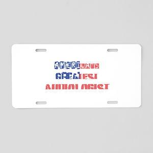 America's Greatest Audiolog Aluminum License Plate