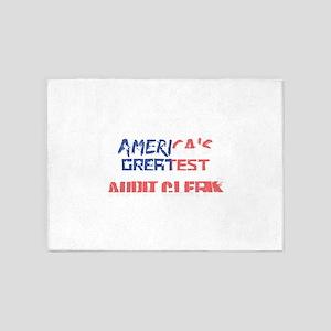 America's Greatest Audit Clerk 5'x7'Area Rug
