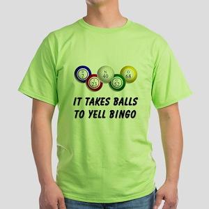 Balls to Bingo Green T-Shirt