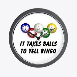 Balls to Bingo Wall Clock