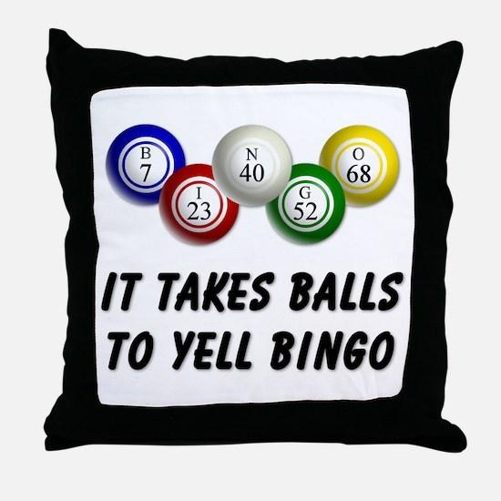 Balls to Bingo Throw Pillow