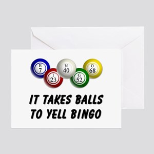Balls to Bingo Greeting Card