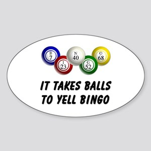 Balls to Bingo Sticker (Oval)