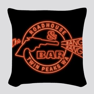 Twin Peaks Roadhouse Bang Bang Woven Throw Pillow
