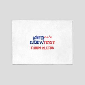 America's Greatest Town Clerk 5'x7'Area Rug