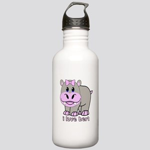 BERT THE HIPPO Stainless Water Bottle 1.0L