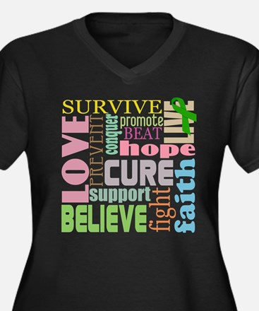 Brain Injury Awareness Women's Plus Size V-Neck Da