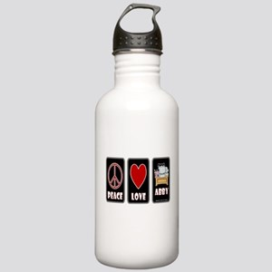 Peace Love Abby Stainless Water Bottle 1.0L