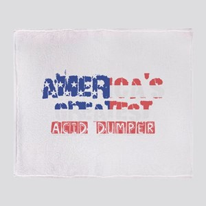 America's Greatest Acid Dumper Throw Blanket
