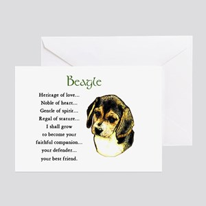 Beagle Greeting Cards (Pk of 10)