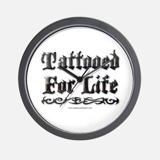 Tattooed For Life Wall Clock