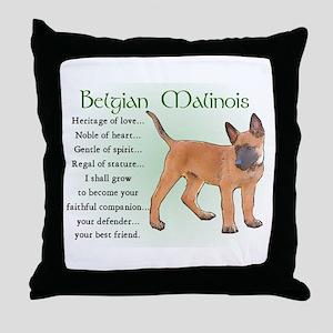 Belgian Malinois Throw Pillow