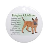 Belgian malinois Round Ornaments