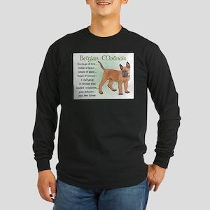 Belgian Malinois Long Sleeve Dark T-Shirt