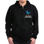 Bird is the Word Zip Hoodie (dark)
