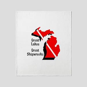 Michigan Scuba Diver Throw Blanket