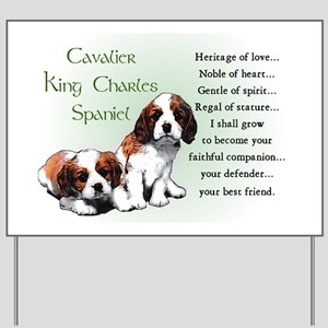 Cavalier King Charles Yard Sign