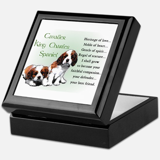 Cavalier King Charles Keepsake Box