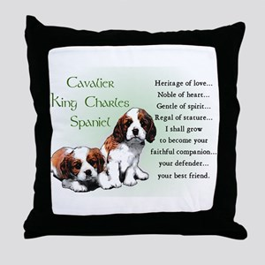 Cavalier King Charles Throw Pillow