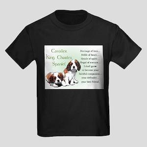 Cavalier King Charles Kids Dark T-Shirt