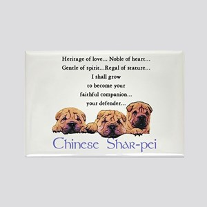 Shar-Pei Puppies Rectangle Magnet (10 pack)