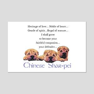 Shar-Pei Puppies Mini Poster Print