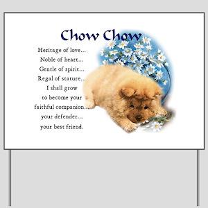 Chow Chow Yard Sign