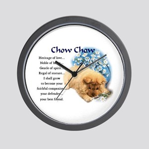 Chow Chow Wall Clock