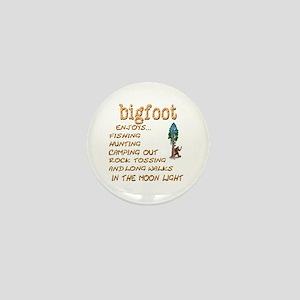 Bigfoot Enjoys . . . Mini Button