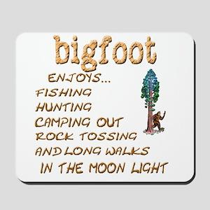 Bigfoot Enjoys . . . Mousepad