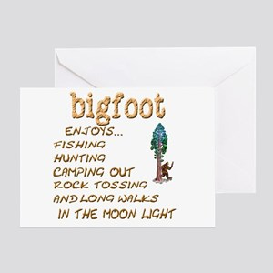 Bigfoot Enjoys . . . Greeting Card