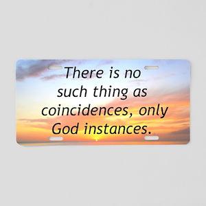 GODS MIRACLES Aluminum License Plate