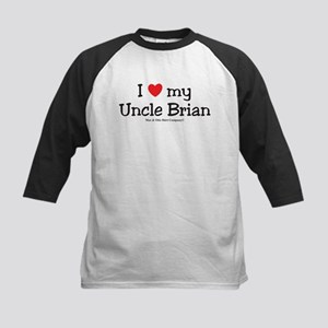 I Love My Uncle Brian Kids Baseball Jersey