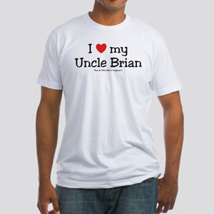 I Love My Uncle Brian Fitted T-Shirt