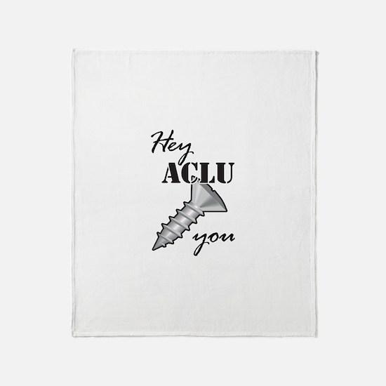 Funny Aclu Throw Blanket