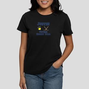 Justin - Future Hockey Star Women's Dark T-Shirt