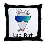 Lab Rat molecularshirts.com Throw Pillow