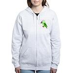 Beaker molecularshirts.com Women's Zip Hoodie