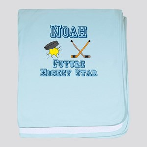 Noah - Future Hockey Star baby blanket