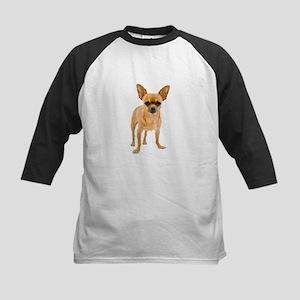 Chihuahua Stand Kids Baseball Jersey