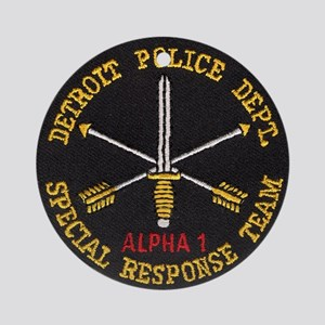 Detroit Police SRT Ornament (Round)