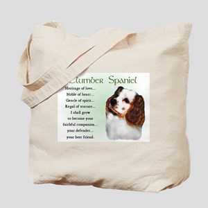 Clumber Spaniel Puppy Tote Bag