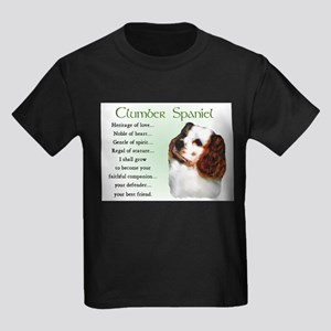 Clumber Spaniel Puppy Kids Dark T-Shirt