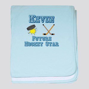 Kevin - Future Hockey Star baby blanket