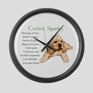 Cocker Spaniel Large Wall Clock